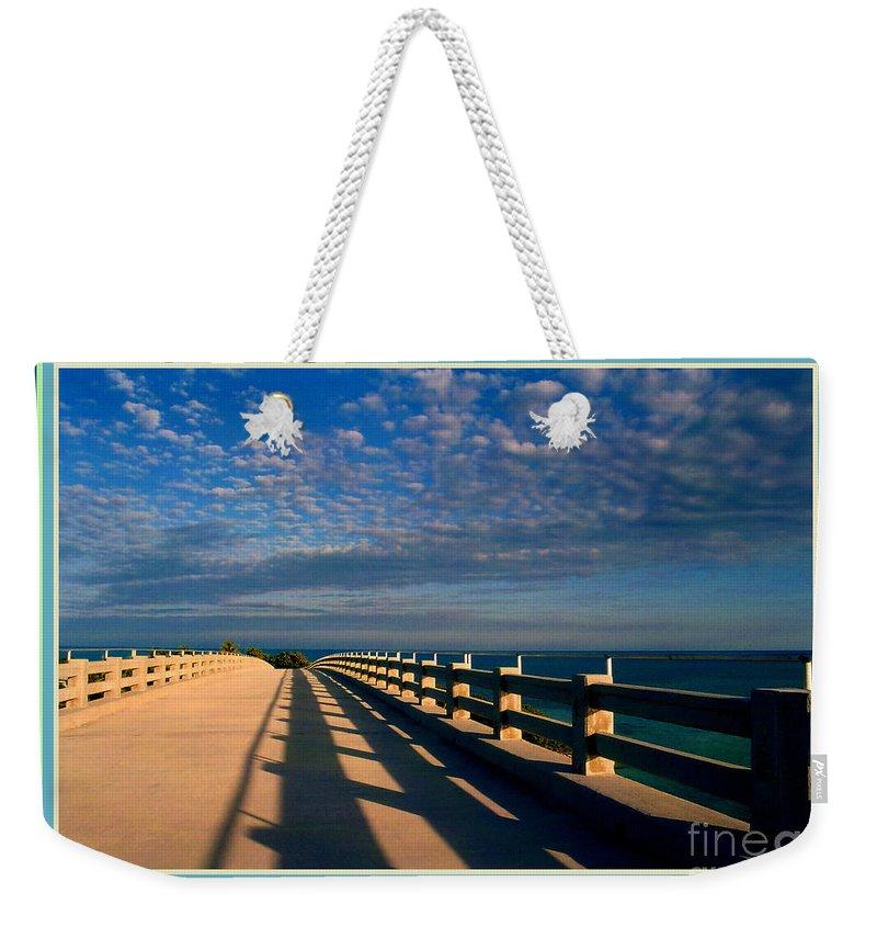 Bahia Honda Weekender Tote Bag featuring the photograph Bahia Honda Bridge In The Florida Keys by Susanne Van Hulst