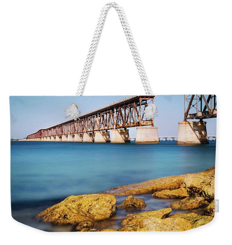 Seascape Weekender Tote Bag featuring the photograph Bahia Honda State Park Florida by Ferrantraite