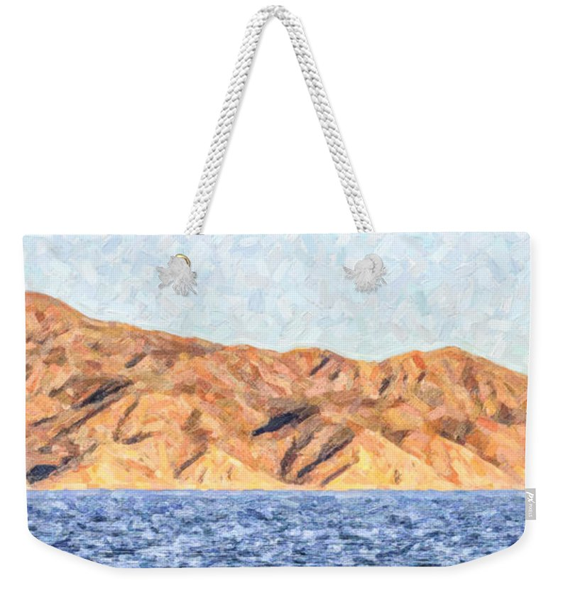 Sea Of Cortez Weekender Tote Bag featuring the photograph Baja Panorama by Liz Leyden