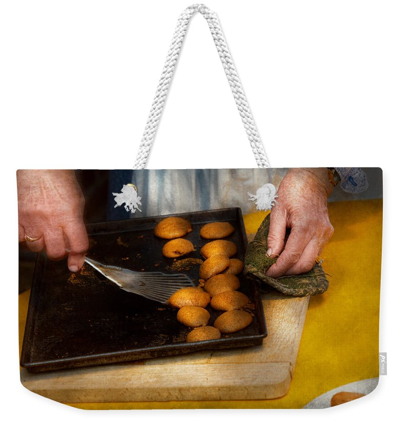 Cook Weekender Tote Bag featuring the photograph Baker - Food - Have Some Cookies Dear by Mike Savad