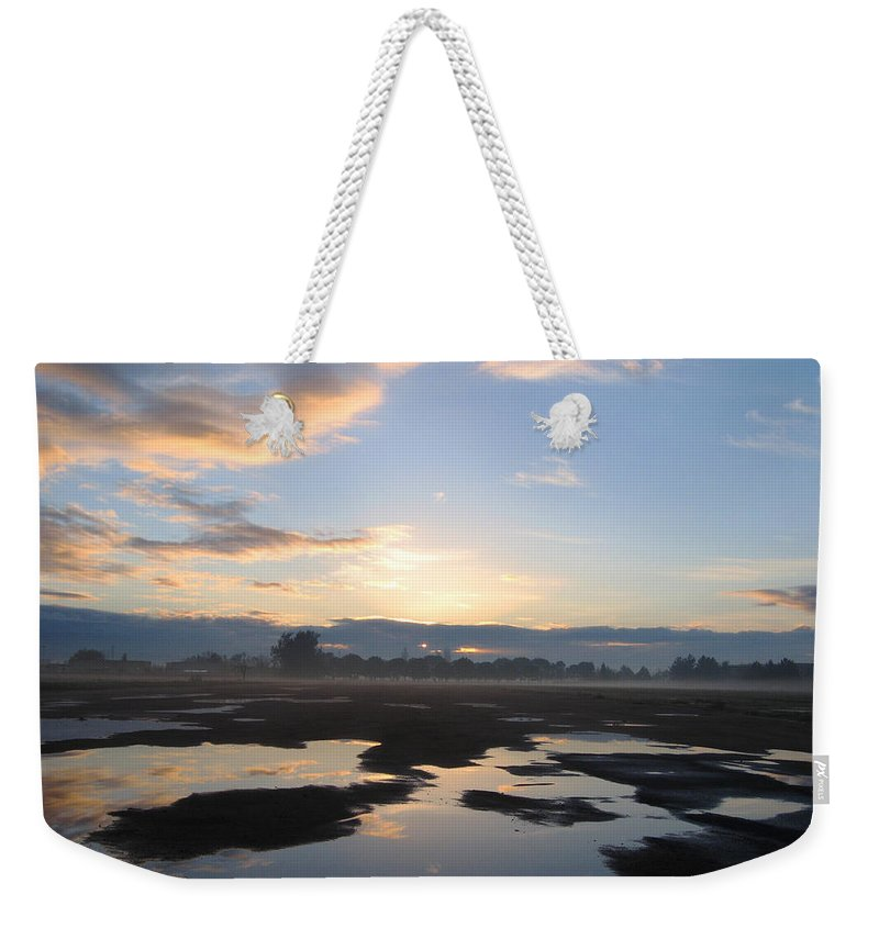 Soft Weekender Tote Bag featuring the photograph Bakersfield Sunrise by Meghan at FireBonnet Art