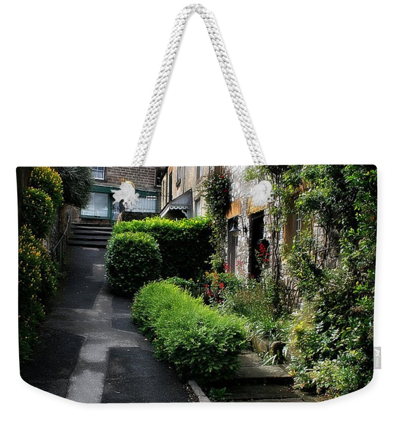 Garden Weekender Tote Bag featuring the photograph Bakewell Country Terrace Houses - Peak District - England by Doc Braham