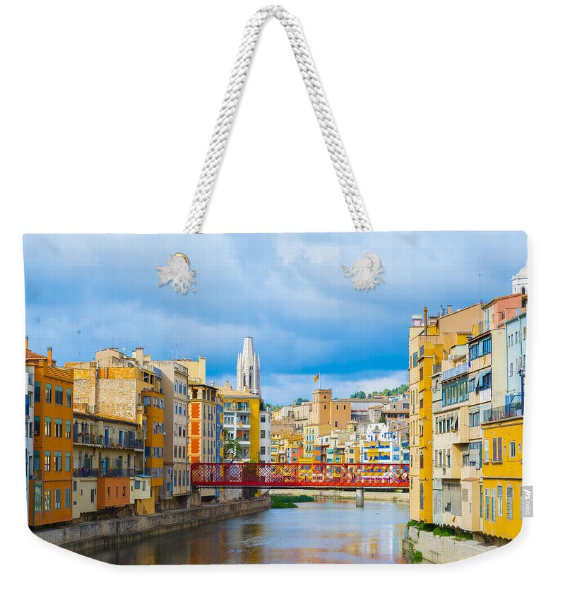 Spanish City Weekender Tote Bag featuring the photograph Balamory Spain by Mair Hunt