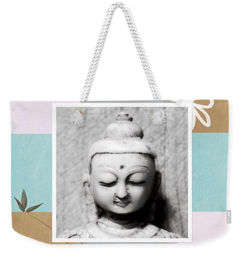 Buddha Weekender Tote Bag featuring the painting Balance- Zen Art by Linda Woods