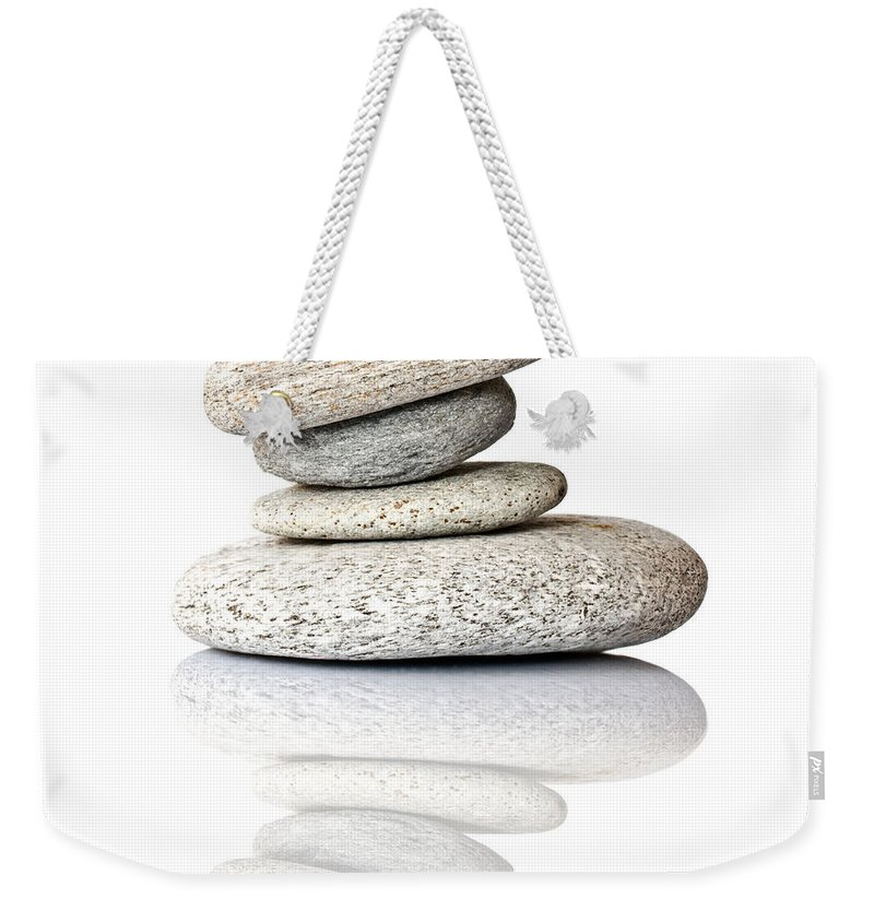 Zen Weekender Tote Bag featuring the photograph Balanced by Delphimages Photo Creations