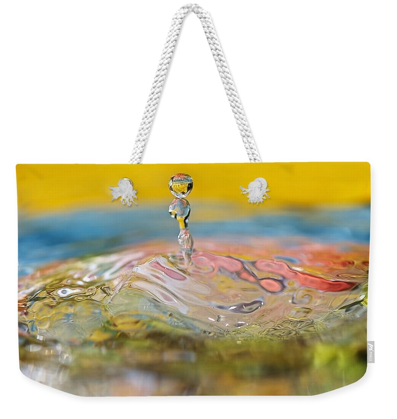 Abstract Weekender Tote Bag featuring the photograph Balancing Act by Lisa Knechtel