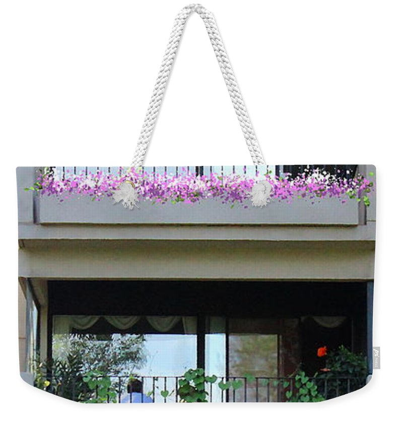 Patios Weekender Tote Bag featuring the photograph Balconies 4 by Kume Bryant
