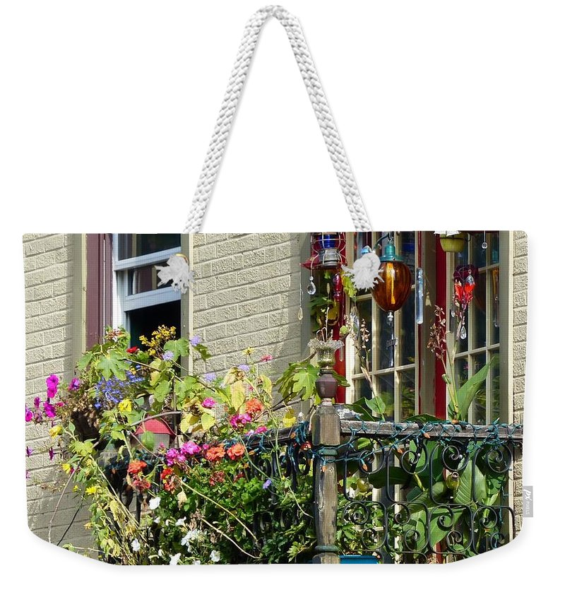 Balcony Weekender Tote Bag featuring the photograph Balcony by Teena Bowers