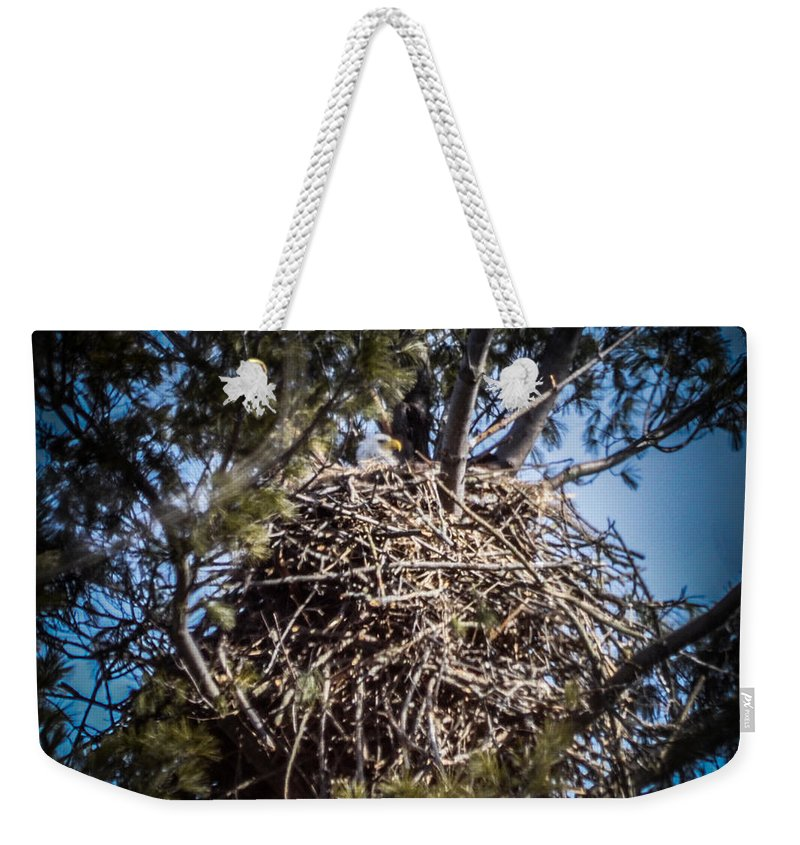 Nest Weekender Tote Bag featuring the photograph Bald Eagle by Ronald Grogan