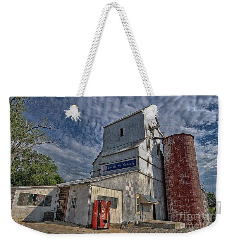 Baldwin Feed Company Weekender Tote Bag featuring the photograph Baldwin Feed Company by Liane Wright