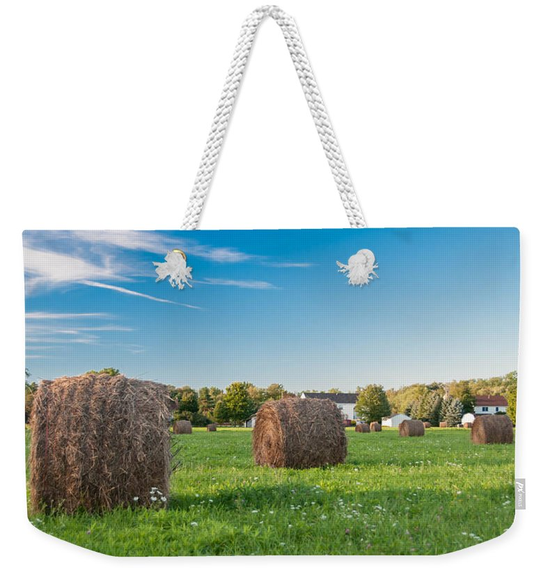 Guy Whiteley Photography Weekender Tote Bag featuring the photograph Bales 3d21646 by Guy Whiteley
