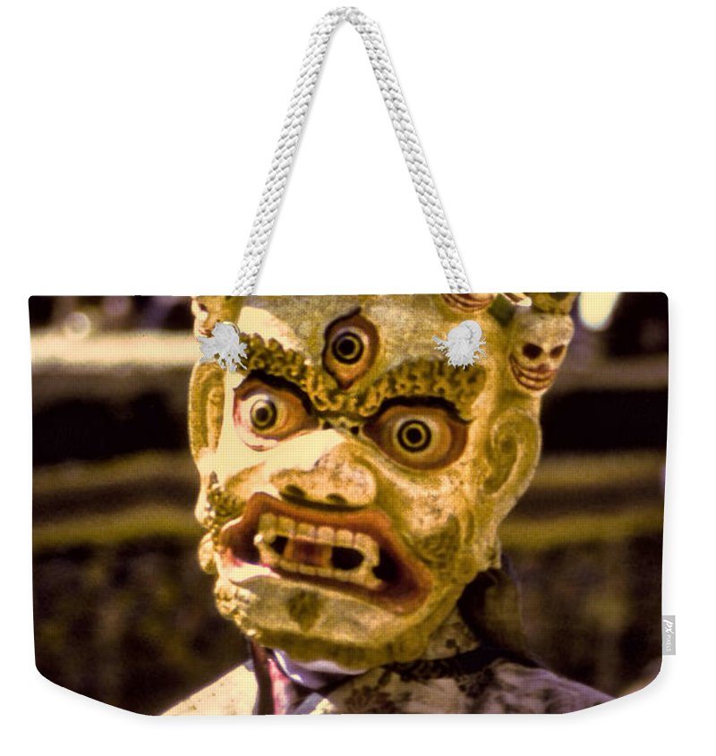 Bali Weekender Tote Bag featuring the photograph Bali Dancer 1 by Dominic Piperata
