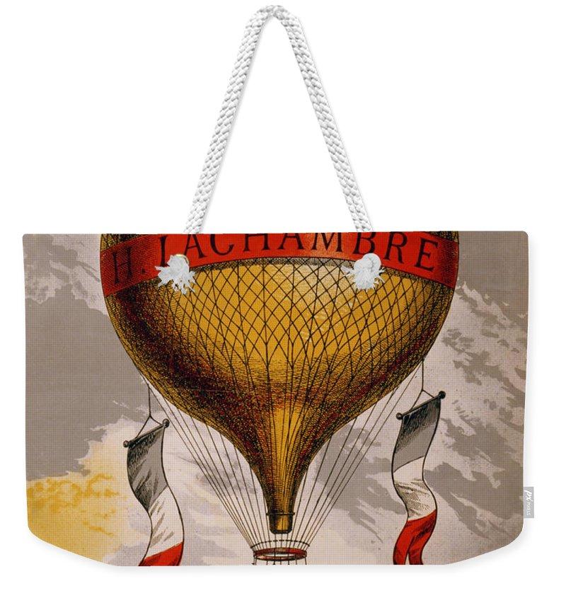 Vintage Weekender Tote Bag featuring the digital art Balloon by Georgia Fowler