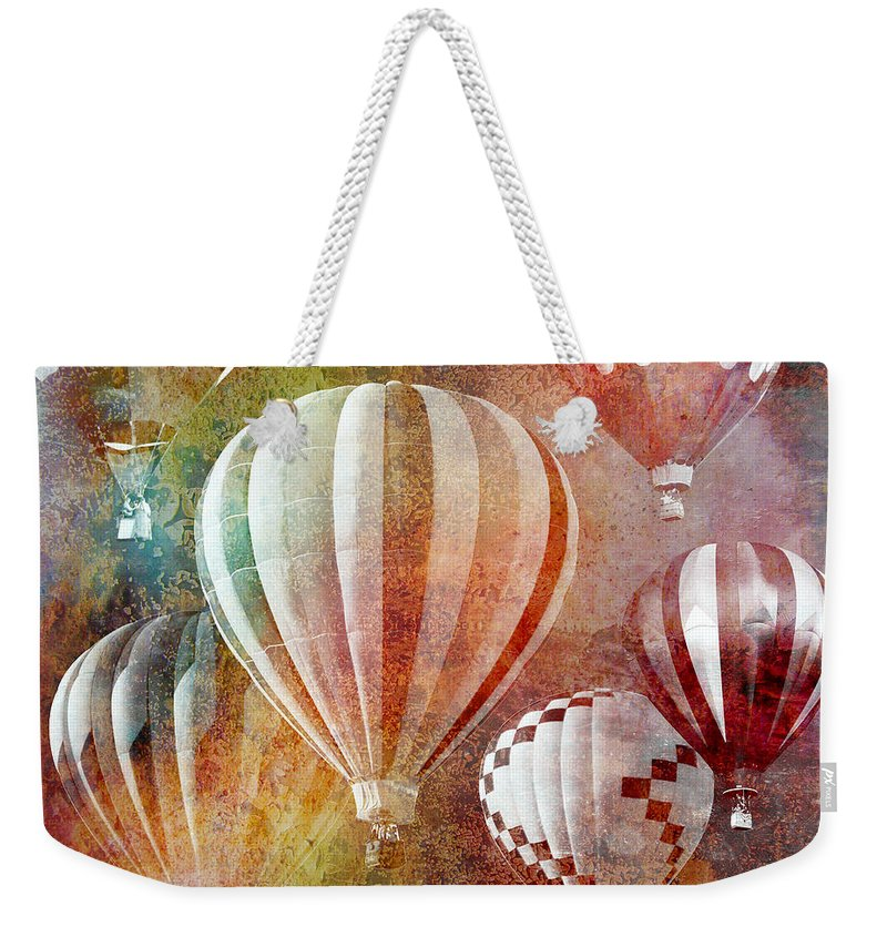 Balloons Weekender Tote Bag featuring the painting Balloons 3 by Mark Ashkenazi