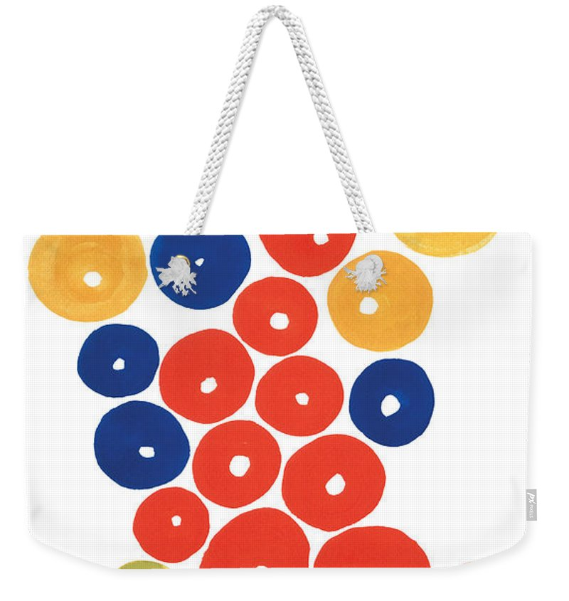 Contemporary Weekender Tote Bag featuring the painting Balls by Bjorn Sjogren