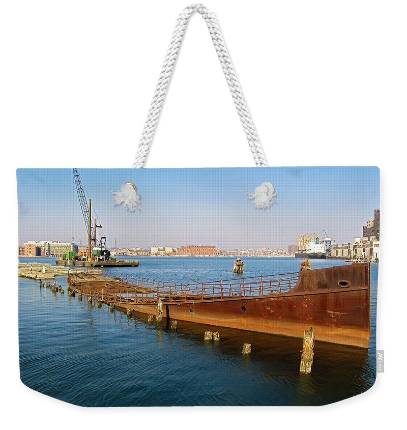 2d Weekender Tote Bag featuring the photograph Baltimore Museum Of Industry by Brian Wallace