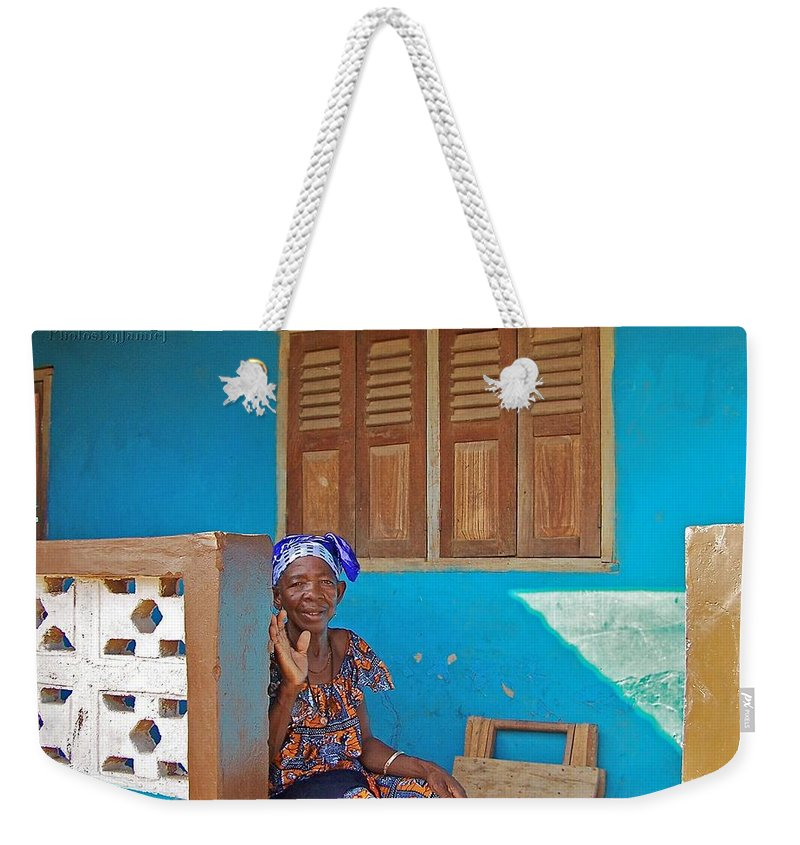 Africa Weekender Tote Bag featuring the photograph Bamboi by Jamie Johnson