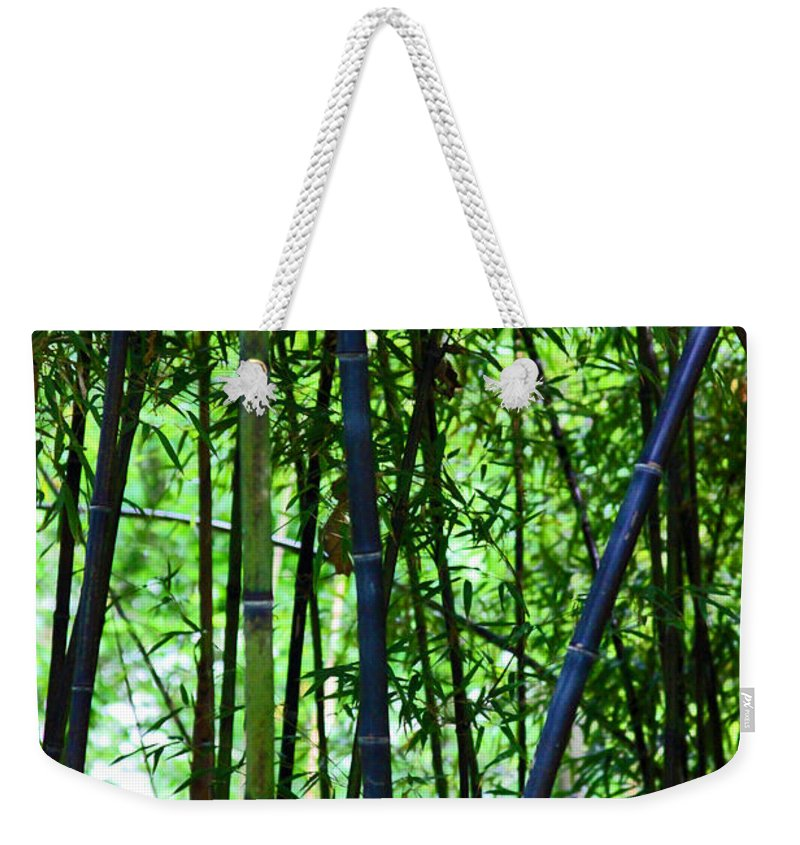 Bamboo Weekender Tote Bag featuring the photograph Bamboo by Carolyn Stagger Cokley