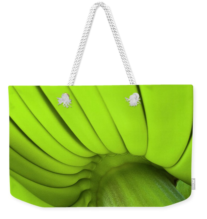 Nature Weekender Tote Bag featuring the photograph Banana Bunch by Heiko Koehrer-Wagner