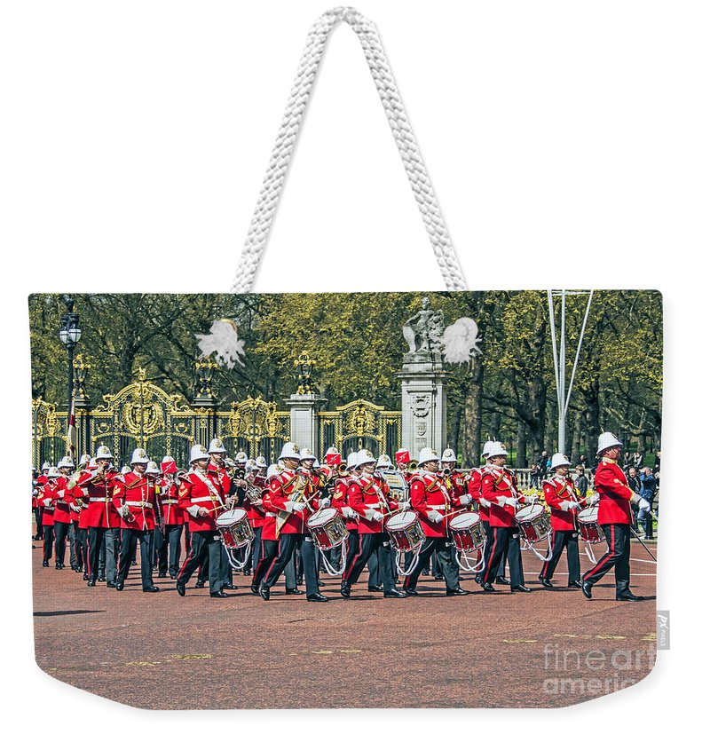 Travel Weekender Tote Bag featuring the photograph Band Of The Guard by Elvis Vaughn