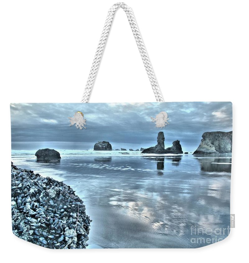 Bandon Beach Weekender Tote Bag featuring the photograph Bandon Beach Scatter by Adam Jewell
