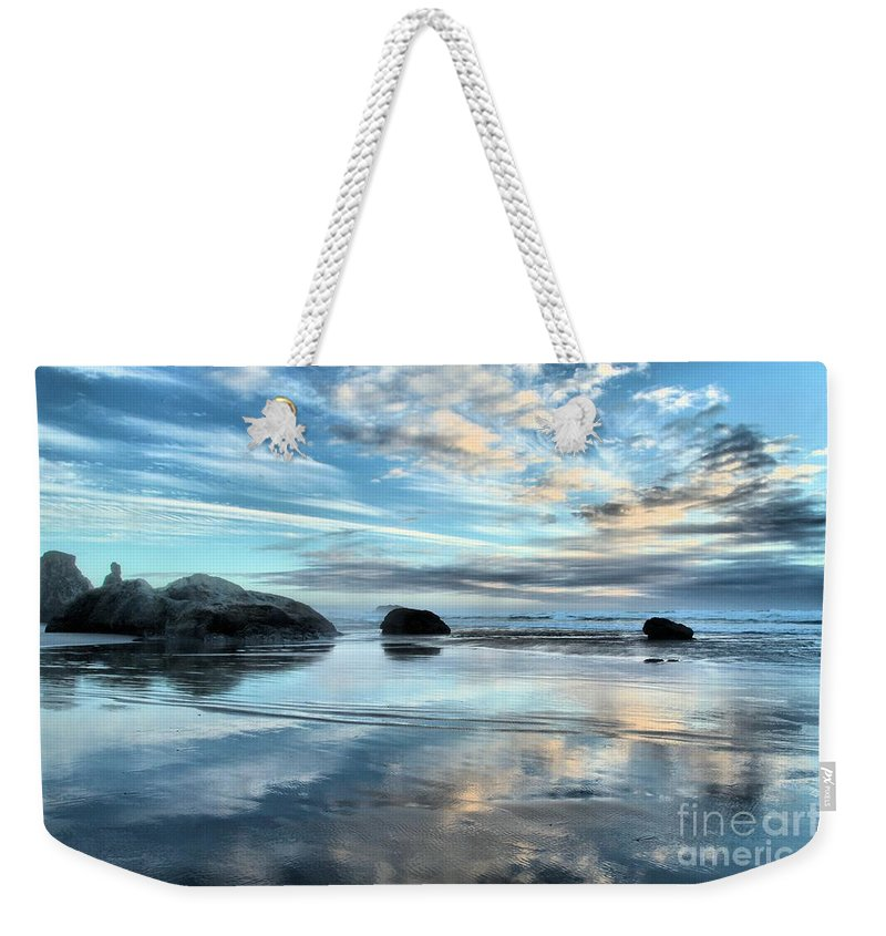 Bandon Beach Weekender Tote Bag featuring the photograph Bandon Rock Garden by Adam Jewell