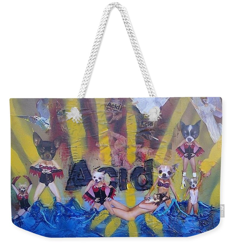 Professional Weekender Tote Bag featuring the painting Baptism In Acid by Lisa Piper