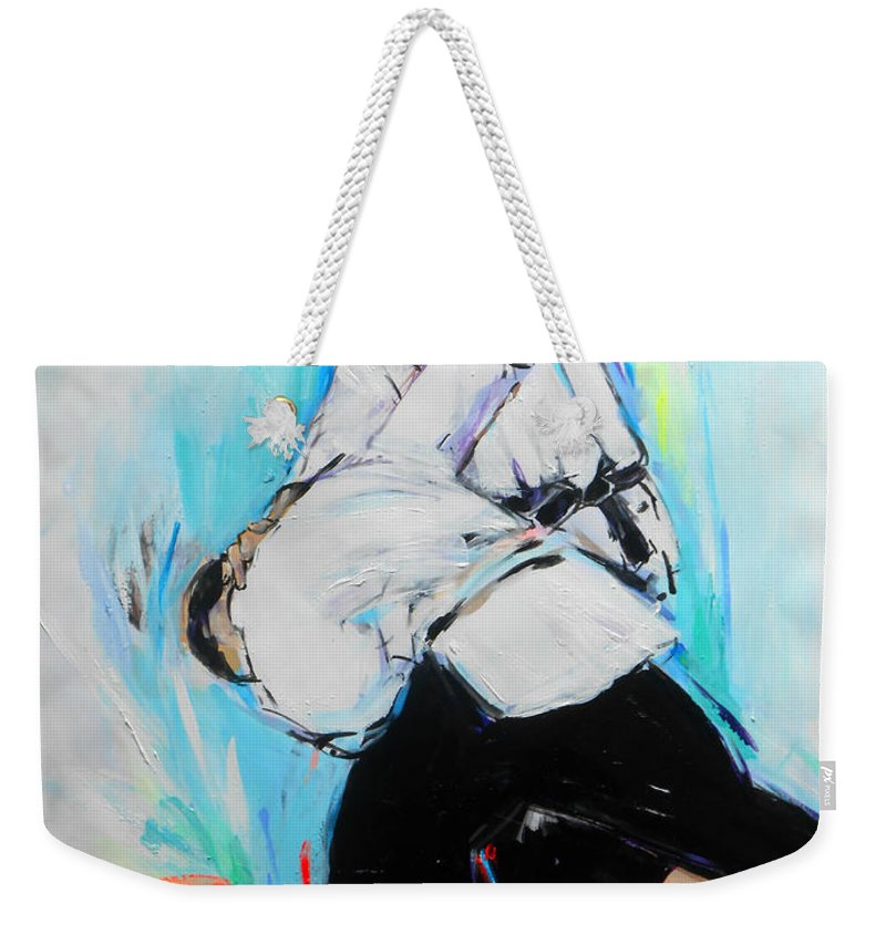 Barai Weekender Tote Bag featuring the painting Barai by Lucia Hoogervorst