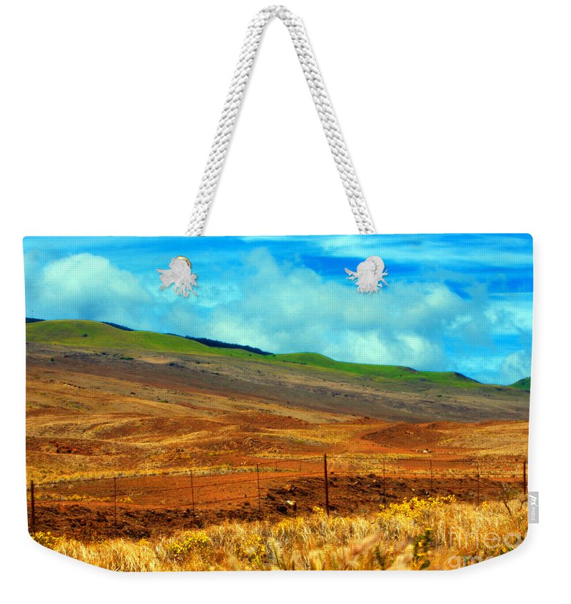 Barbed Wire Weekender Tote Bag featuring the photograph Barbed Wire Fence by Paulette B Wright