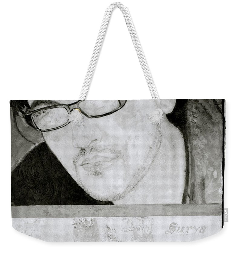 Kitsch Weekender Tote Bag featuring the photograph The Barber Shop by Shaun Higson