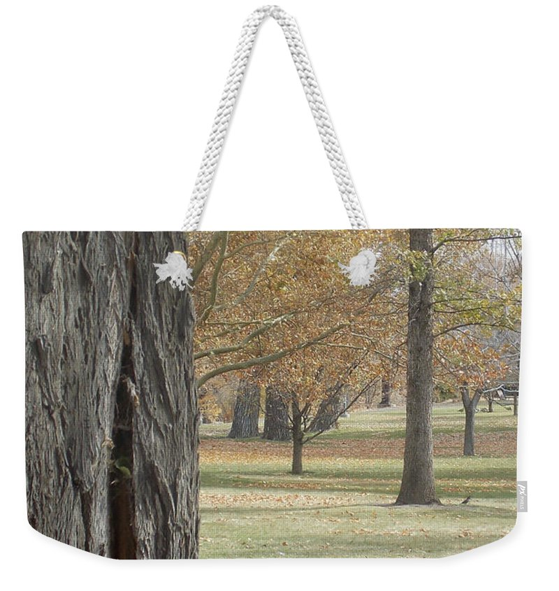 Tree Weekender Tote Bag featuring the photograph Bark by Brent Dolliver