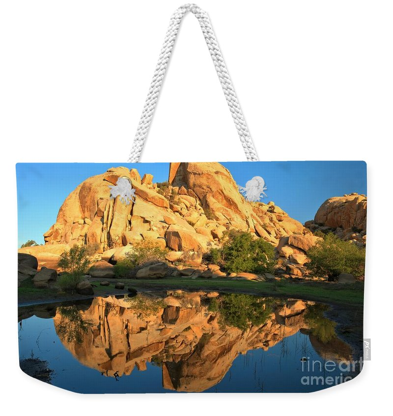 Barker Dam Weekender Tote Bag featuring the photograph Barker Dam Pond Reflections by Adam Jewell