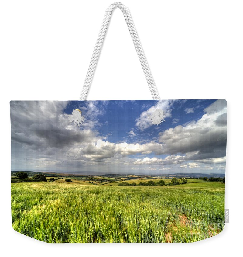 Barley Weekender Tote Bag featuring the photograph Barley View by Rob Hawkins