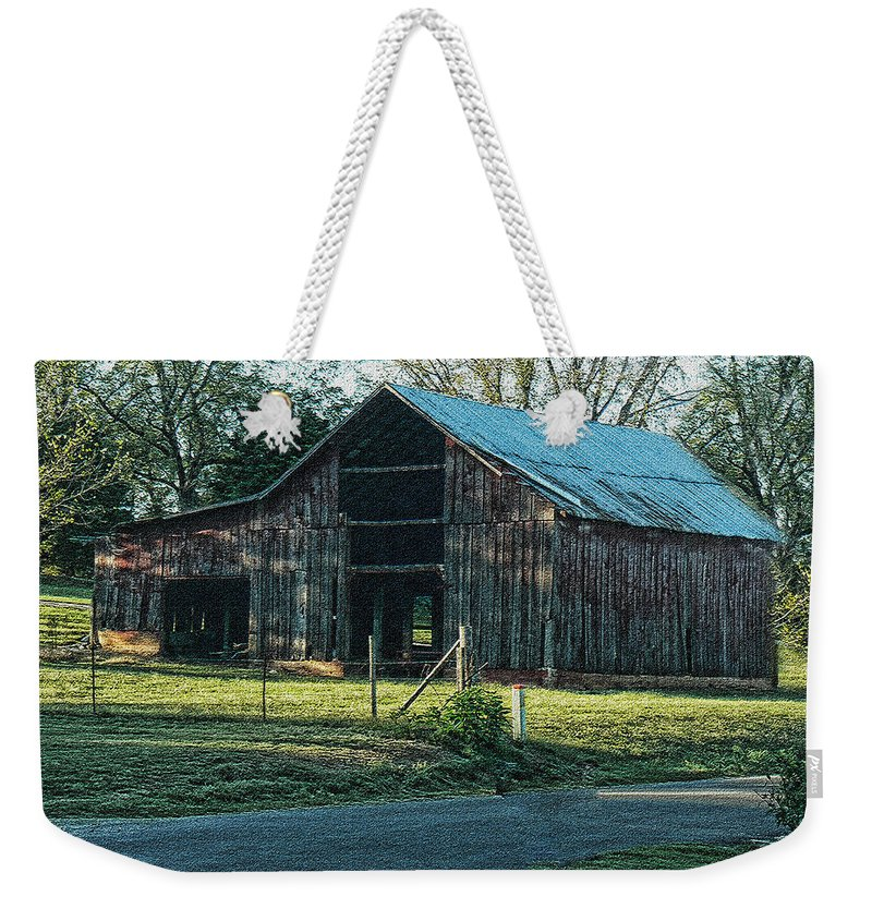 Barn Weekender Tote Bag featuring the photograph Barn 1 - Featured In Old Building And Ruins Group by Ericamaxine Price