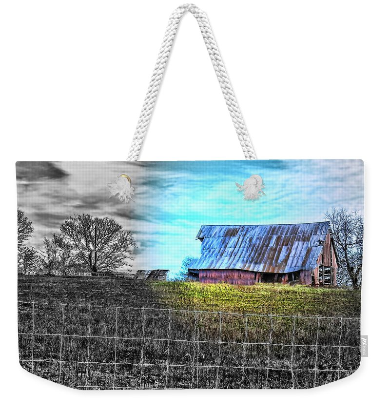 Barn Weekender Tote Bag featuring the photograph Barn 23 - Featured In Comfortable Art And Artists Of Western Ny Groups by Ericamaxine Price