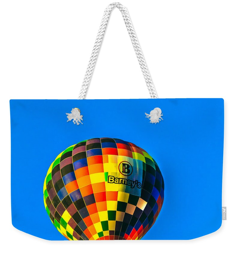 Arizonia Weekender Tote Bag featuring the photograph Barney's Hot Air Balloon by Robert Bales