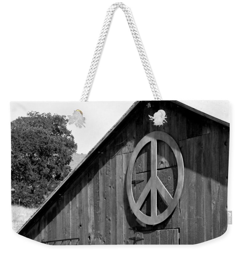 Solvang Weekender Tote Bag featuring the photograph Barns For Peace by Art Block Collections