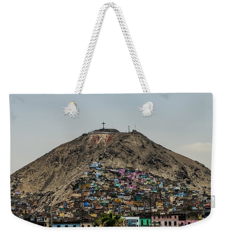 Lima Weekender Tote Bag featuring the photograph Barrio In Lima by Allen Sheffield