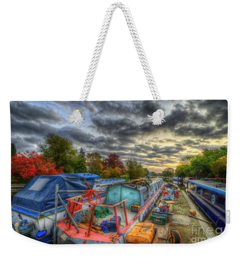 Hdr Weekender Tote Bag featuring the photograph Barrow Boats by Yhun Suarez