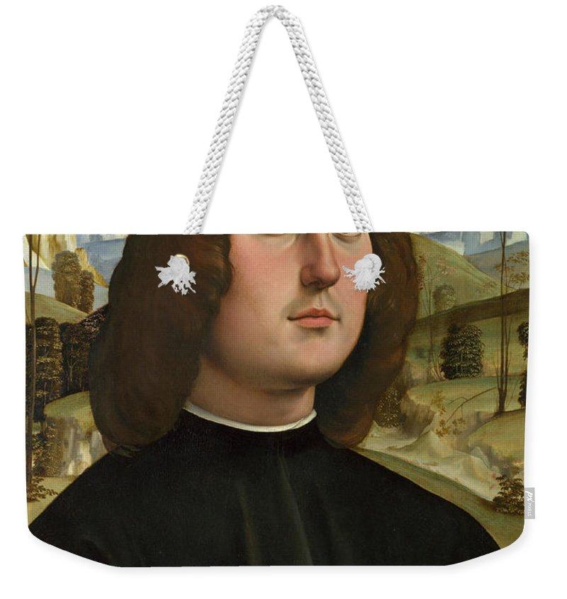 Francesco Francia Weekender Tote Bag featuring the painting Bartolomeo Bianchini by Francesco Francia