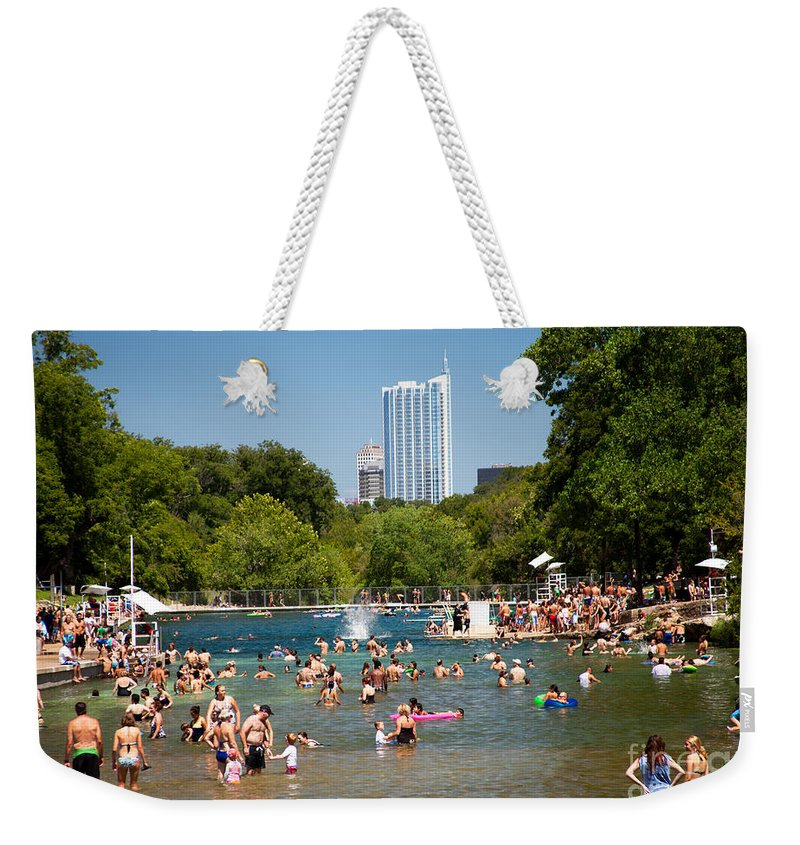 Barton Springs Pool Weekender Tote Bag featuring the photograph Barton Springs Pool by Randy Smith