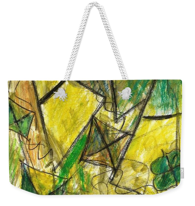 Painting Weekender Tote Bag featuring the painting Basant - Series by Fareeha Khawaja
