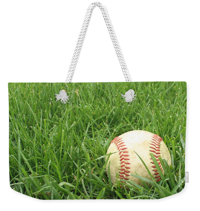 Baseball Weekender Tote Bag featuring the photograph Baseball by Delaney McCafferty