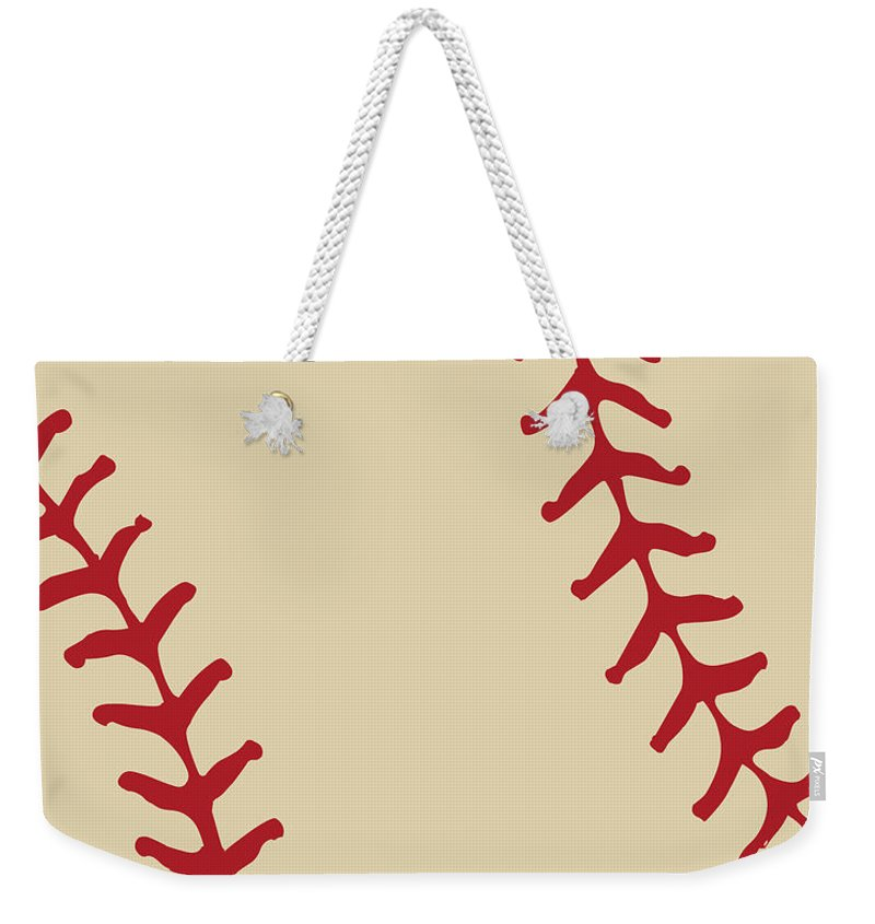 Pop Art Weekender Tote Bag featuring the digital art Baseball by Voros Edit