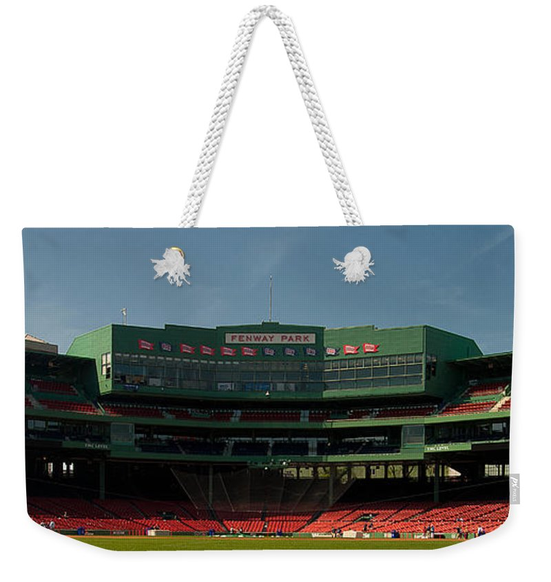 Fenway Park Weekender Tote Bag featuring the photograph Baseballs Hollowed Ground by Paul Mangold