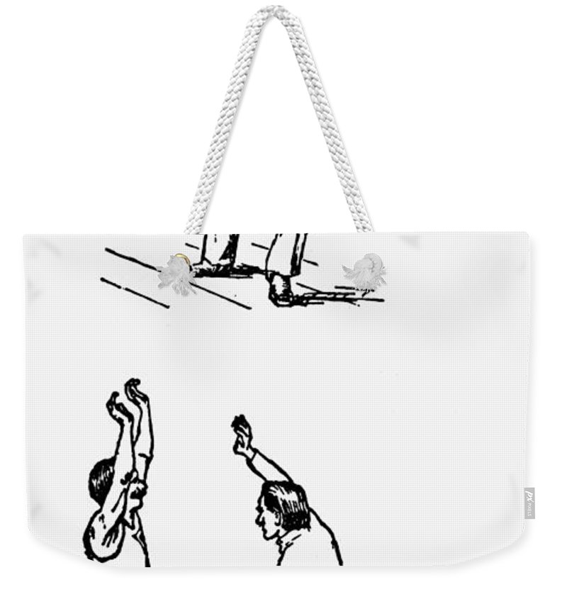 1893 Weekender Tote Bag featuring the photograph Basketball, 1893 by Granger