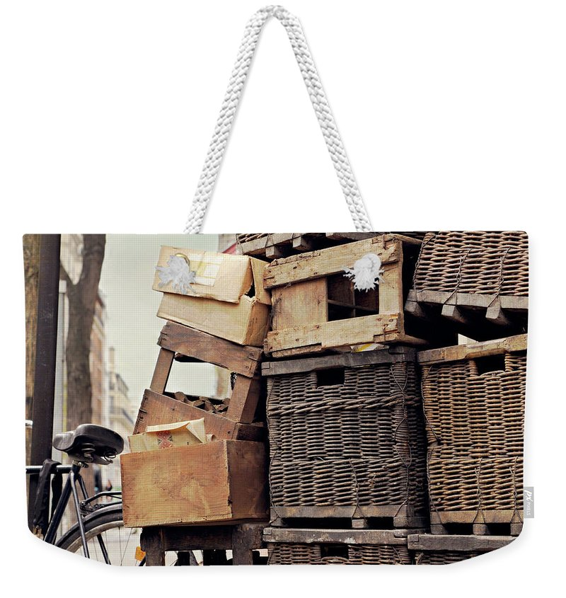Outdoors Weekender Tote Bag featuring the photograph Baskets In Paris by Sharon Lapkin
