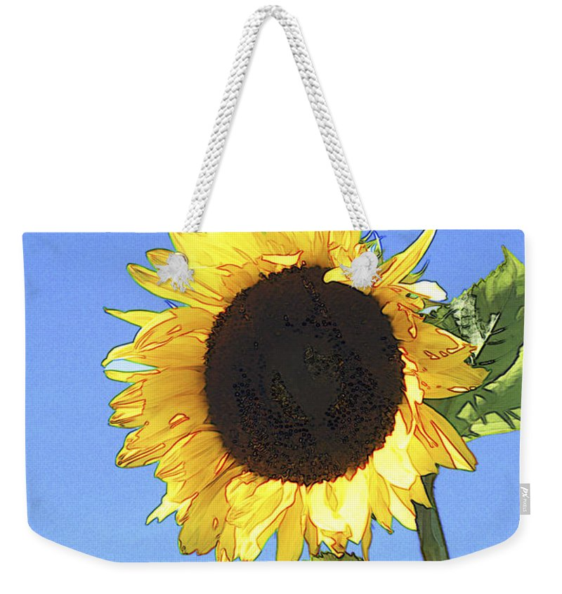 Sunflower Weekender Tote Bag featuring the photograph Basking In The Sunlight by Peter Lloyd