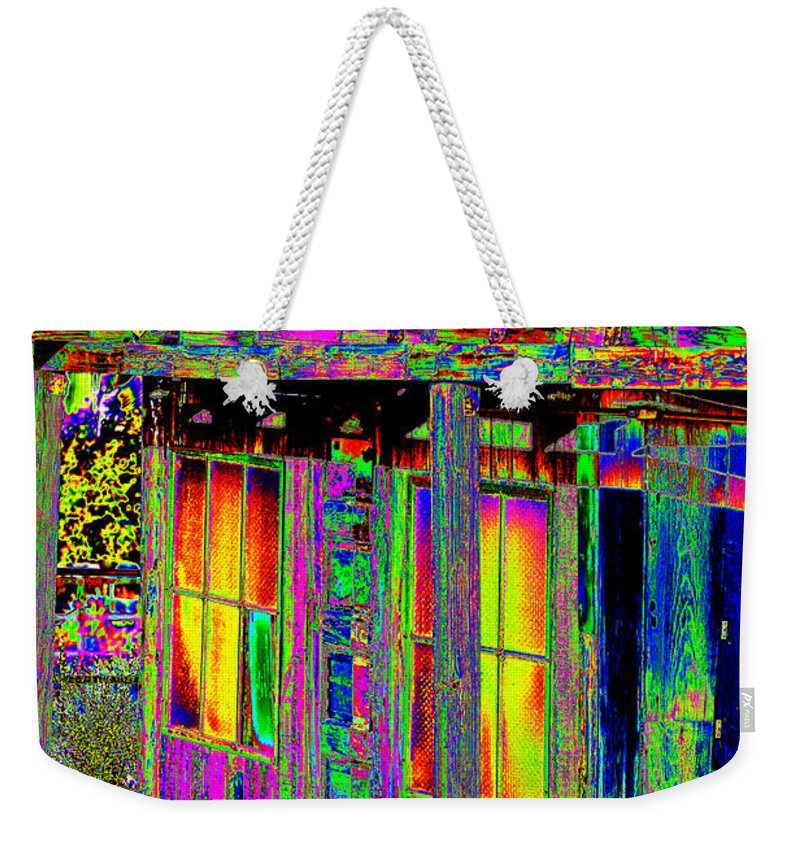 Building Weekender Tote Bag featuring the photograph Bath House Pop Art by Phyllis Denton