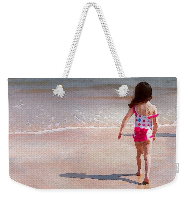 Girl Weekender Tote Bag featuring the photograph Bathing Beauty Two by Alice Gipson